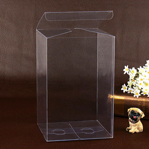 Image 5 - 13*13*Hcm Clear Square Wedding Favor Gift Box PVC Transparent Party Candy Bags Chocolate Boxes Packaging Cake Soap Display Box