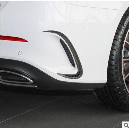 Pour une classe A45 AMG en Fiber de carbone voiture pare-chocs arrière évent garniture barrage garde-boue Canards pour mercedes-benz W176 A180 A200 Sport 2019