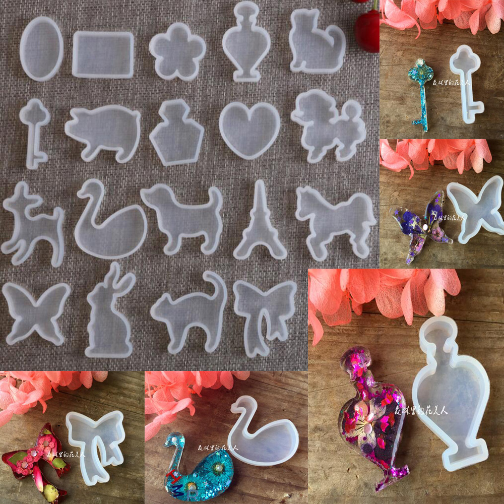 XCDIY Silicone Mold For Jewelry Charm Pendant Cute Animals Cat Rabbit Deer Horse Resin Silicone Mould Craft Tool DIY Jewelr Mold