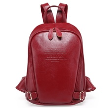 GENUINE LEATHER Fashion Women Backpack Girl Student School Bag MINI Small Double Shoulder Bag Women Casual