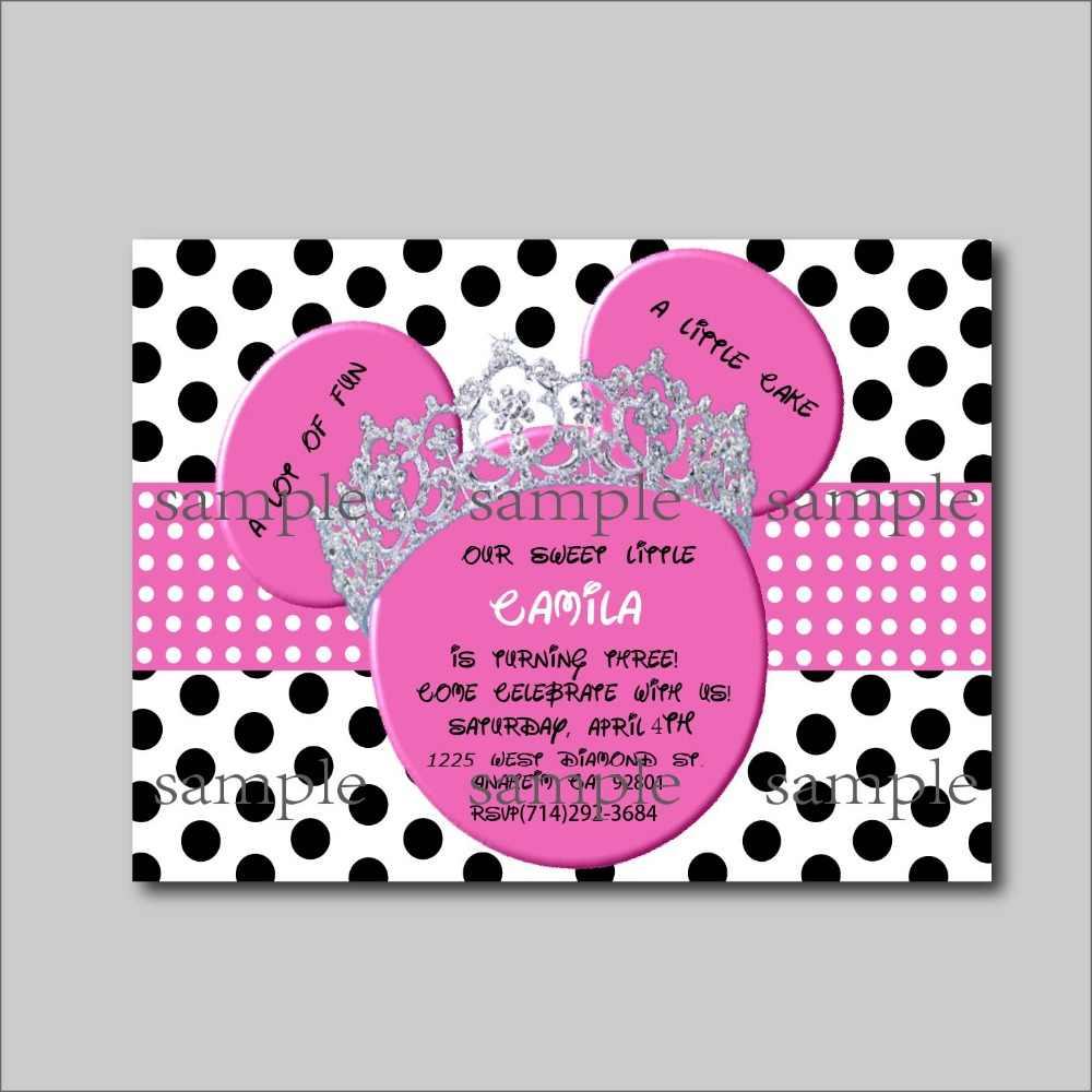 14 Piunids Lote Rosa Minnie Mouse Invitaciones De Cumpleaños Minnie Mouse Baby Shower Invitación Niños Fiesta Decoración Suministro Envío Gratis