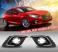 2PCs Set Auto LED DRL Daylight Lamp Car Daytime Running Lights Set For MAZDA 3 Alexa