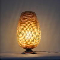 bamboo Table Lamps wood art decorative lamp Hotel teahouse project lamp Bedroom bedside desk lamps E27 LU808143