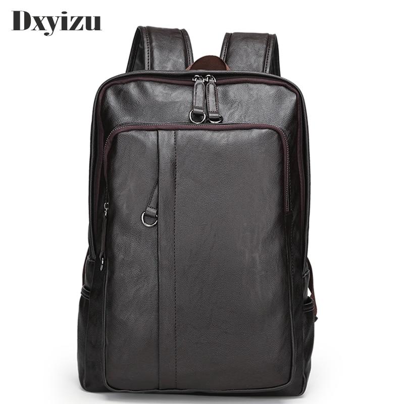 Nesitu Vintage High Quality Brown Genuine Leather Men Backpacks Mens Travel Bags Casual Daypacks Shoulder Bag M6408 Backpacks Men's Bags