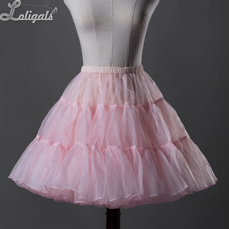 Sweet Organza Short A line Petticoat Women's Tutu UnderSkirt by Classical Puppets