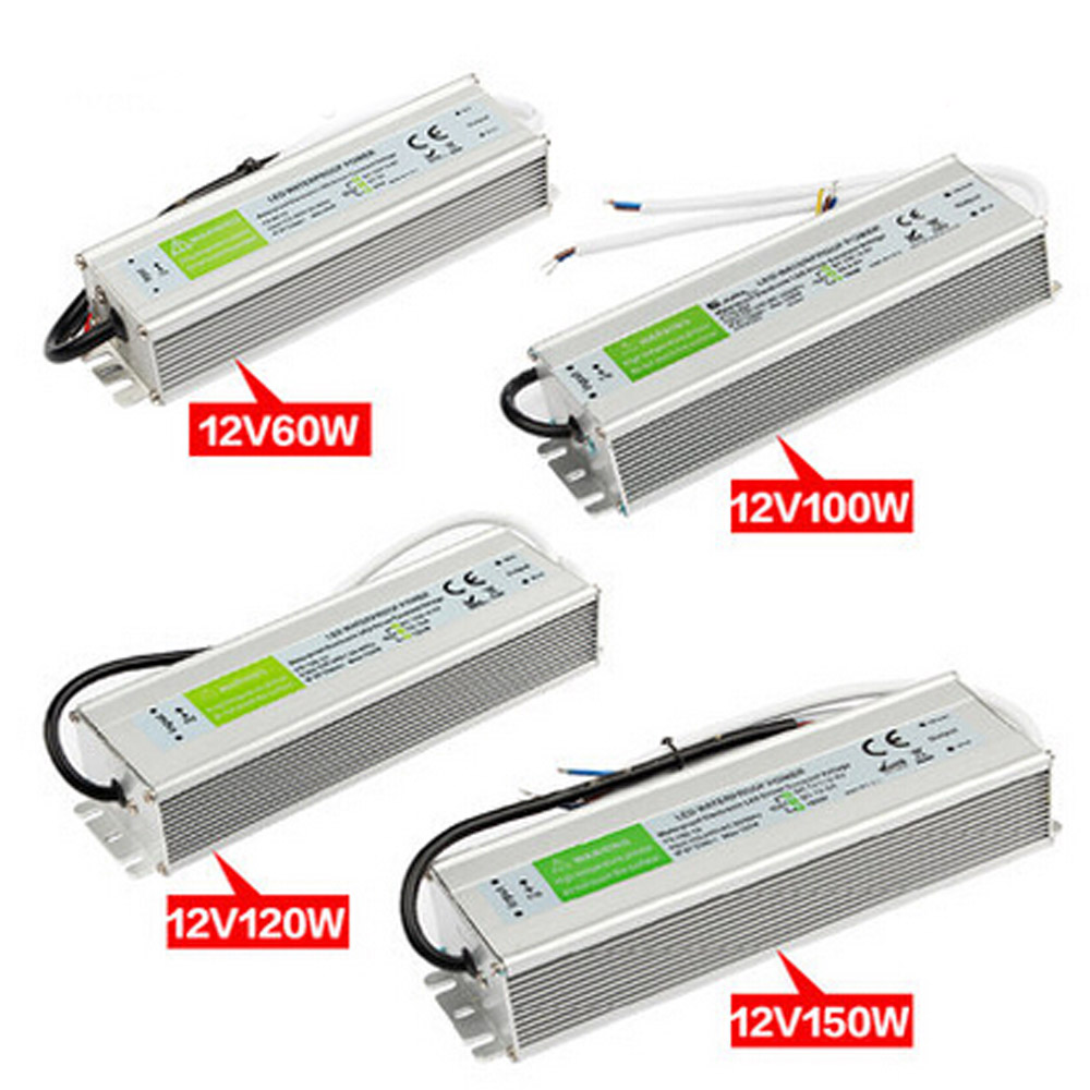 Waterproof IP67 LED Driver AC DC 12V 24V LED Transformer Power Supply Adapter AC 110V 220V for 5050 5630 3528 LED strip Light 24v 8 5a power supply waterproof ip67 adapter ac 96v 240v transformer dc 24v 200w ac dc led driver switching power supply ce fcc