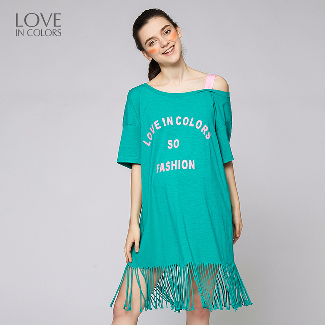 Loveincolors New Fashion Pregnancy Women Dress Strapless Tassel Sexy Spring Maternity Wear Straight Pregnant Clothes