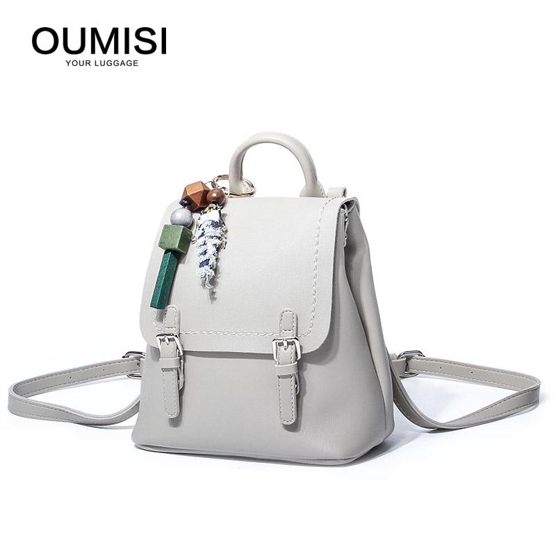 Bagaj ve Çantalar'ten Sırt Çantaları'de Marka Tiki Tarzı okul sırt çantası Suni Deri Moda Kadın omuzdan askili çanta Iki Katı Cep Gençler Kızlar Için'da  Grup 1