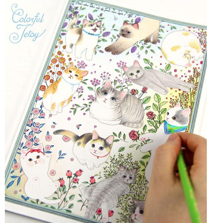 Colorful Jetoy Colouring Book Coloring Relieve Stress Kill Time Graffiti Painting Drawing In Photo Albums From Home Garden On Aliexpress