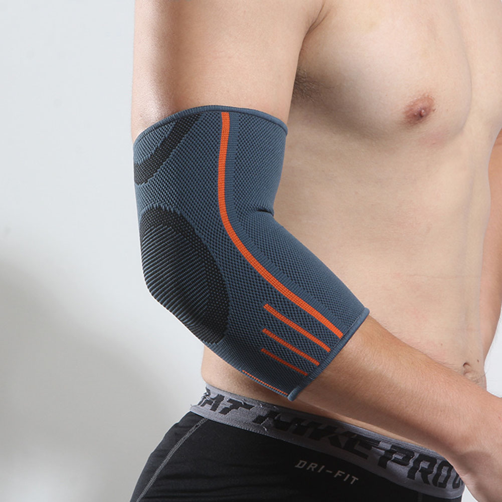 Unisex Breathable Elbow Brace Tennis Compression Sleeve Pads Lengthen Workouts Outdoor Volleyball Arm Protector Elbow Support