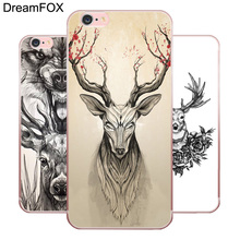 M058 Art Deer Soft TPU Silicone Case Cover For Apple iPhone 11 Pro X XR XS Max 8 7 6 6S Plus 5 5S SE 5C 4 4S apple чехол moschino iphone6 5s 5c plus 4s