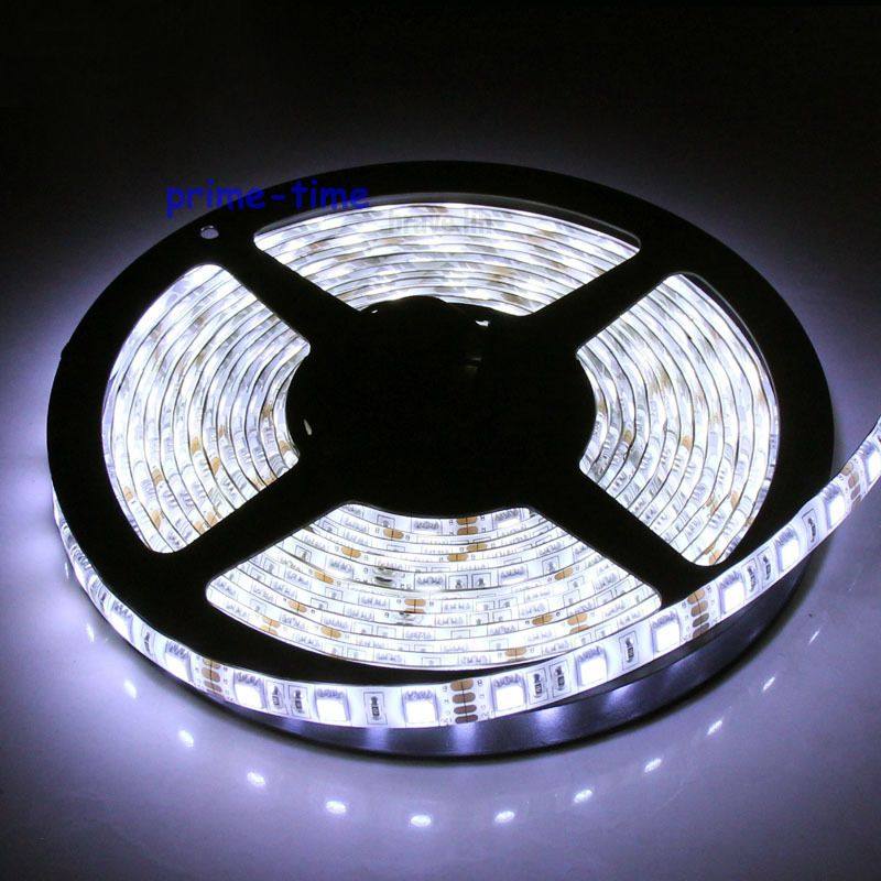 5m 5050 SMD 300 Leds IP65 Tira impermeable LED, 12V cinta flexible de 60 LED / m, blanco / blanco cálido / azul / verde / rojo / amarillo / RGB Color