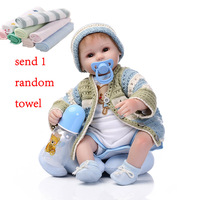 NPK 42cm Soft Doll Reborn Baby Dolls Silicone Dolls Reborn Babies Toy Adorable Lifelike Toddlers Sweater Baby Doll Toys For Kids