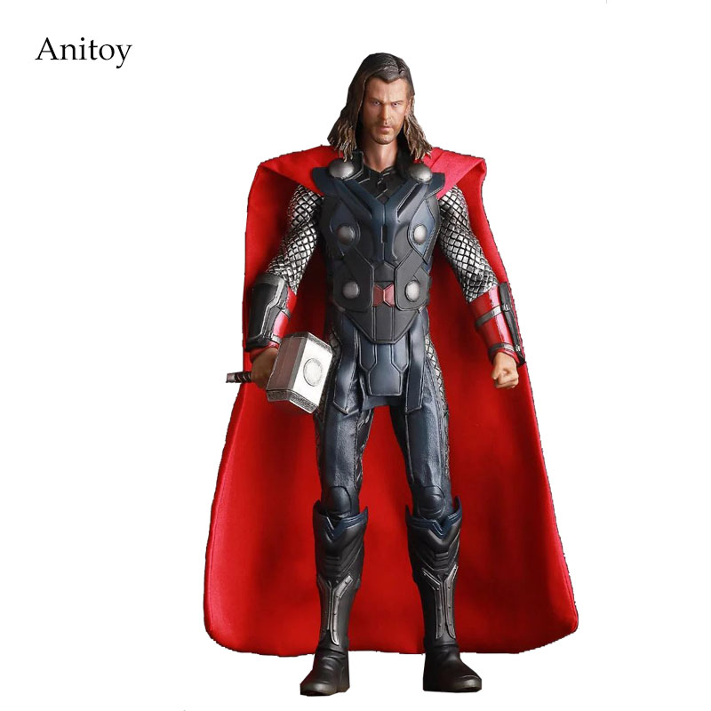 Crazy Toys Acengers Age of Ultron Thor PVC Action Figure Collectible Model Toy 30cm KT3112 crazy toys thor action figure toys collectible model pvc kids toy gift 30cm