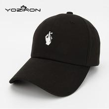 Fashion Cotton Mano Subió OK Amor Gestos Dedo Sombreros Del Snapback Caps Gorras de Béisbol Para Hombres Mujeres Ajustable Cap Adultos