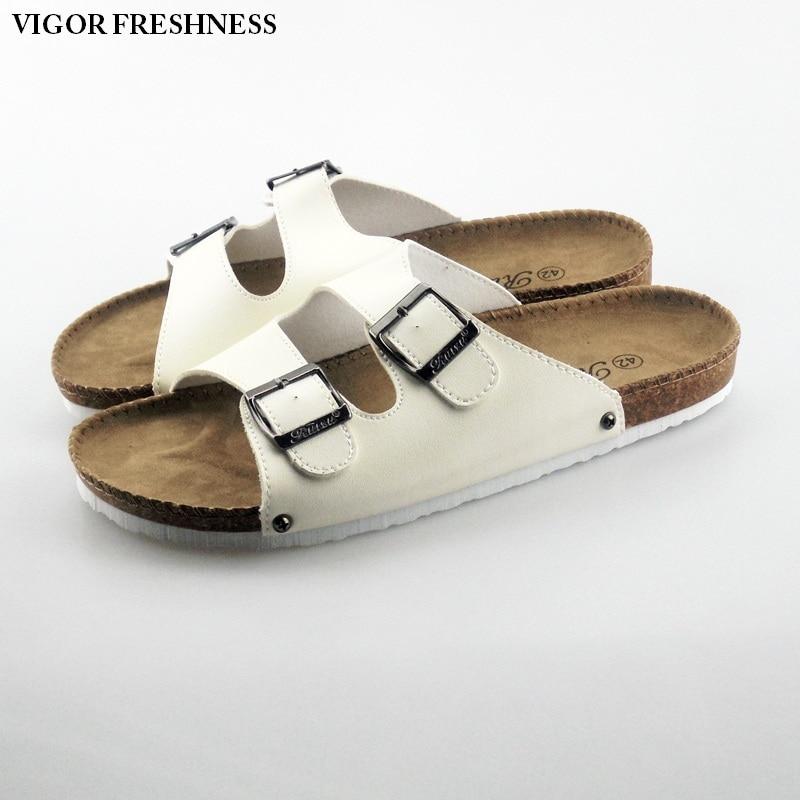 2bca9aae9f4e Купить Vigor свежесть женские босоножки Летние женские туфли сандалии на  плоской подошве женские летние пробковые шлепанцы Тапочки пляжные пробков.