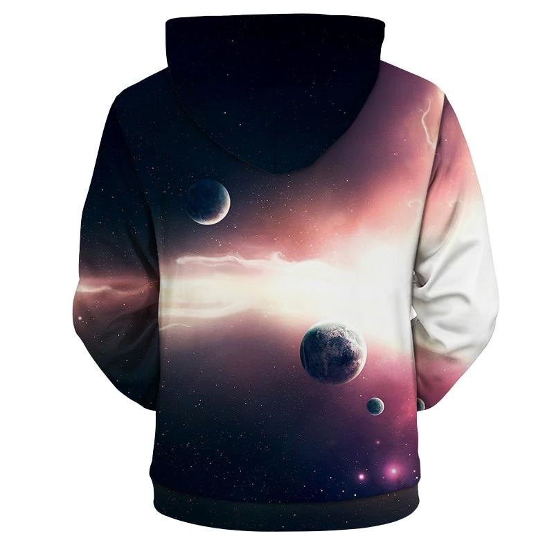 YFFUSHI 2018 New Male Hot Sale 3d Hoodies Space Series Planet Print Tops Cool Design Hip Hop Hooded Sweatshirts Plus Size 5XL
