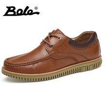 Боле мокасины ручной работы Мужские кожаные туфли для отдыха модные прогулочные Кружева до натуральная кожа Обувь мужчин Туфли без каблуков удобная обувь для вождения