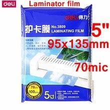 100 sztuk/partia Deli 3809 hot etui laminator film 5