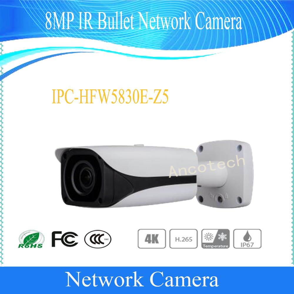 Free Shipping DAHUA IP Camera CCTV 8MP IR Bullet Network Camera with POE IP67 Without Logo IPC-HFW5830E-Z5 bullet camera tube camera headset holder with varied size in diameter