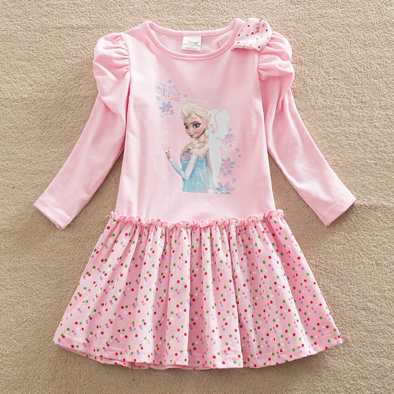 Girls Dress Elsa Vestidos Clothes Vestido Disfraz Infantil Costume For Kids Roupas Infantis Menina Autumn Girl Dresses 2017 Hot цена