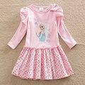 Vestido de las muchachas Vestidos Ropa Vestido Elsa Disfraz Infantil De Disfraces Para Niños Roupas Infantis Menina Otoño Vestidos de La Muchacha Caliente 2017