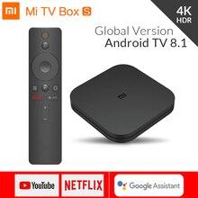 Original Global Xiao mi boîte S 4K HDR Android TV 8.1 mi boîtes 2G 8G WIFI Google Cast Netflix IPTV décodeur mi Box 4 lecteur multimédia