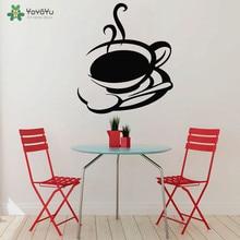 YOYOYU Wall Decal Vinyl Art Decal Sticker Kitchen Mural Tea Mug Coffee Cup Wall Sticker Removeable Room Poster YO525 цена