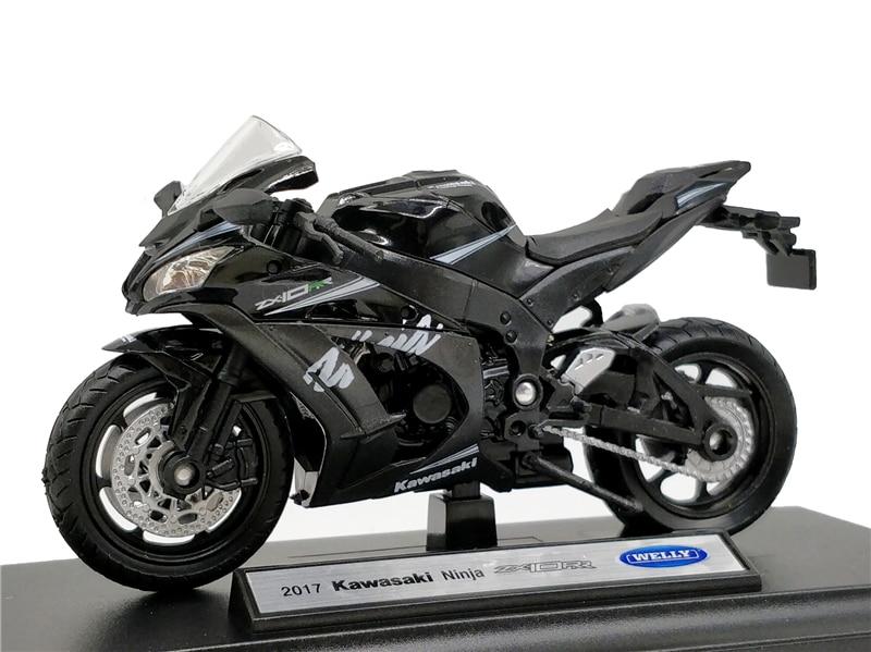 Welly 118 kawasaki ninja zx10 rr 2017 diecast motocicleta