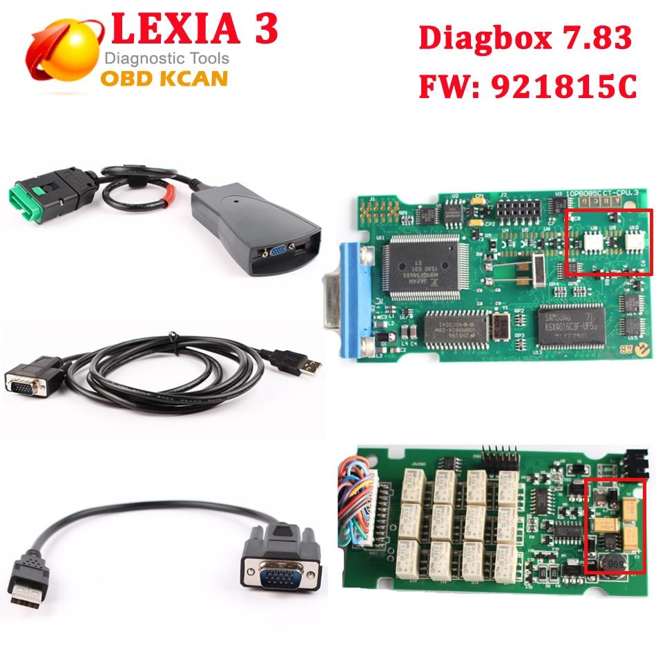 Prix pour Date diagbox v7.83 lexia 3 pp2000 Pour citroen pour peugeot PP2000 lexia3 Professionnel outil de diagnostic Lexia-3 pp2000