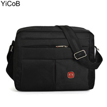 Men Shoulder Bags NEW Waterproof Nylon Bag 29*23*9cm Messenger Crossbody Bolsas Sac for Boy Man Male Travel Casual Solid Zipper