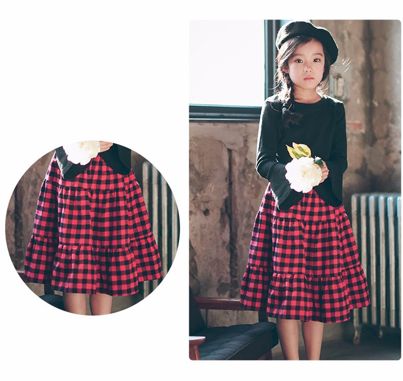 England style long skirts for baby teenage girls red plaid pleated skirt girl 2017 new spring autumn winter children clothing 5 6 7 8 9 10 11 12 13 14 15 16 years old little big teenage girls pleated skirts for kids (22)