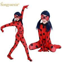 Ladybug cos, anime filem dan televisyen Eropah dan Amerika, gadis kumbang, ketat, 61 kostum Halloween, beg