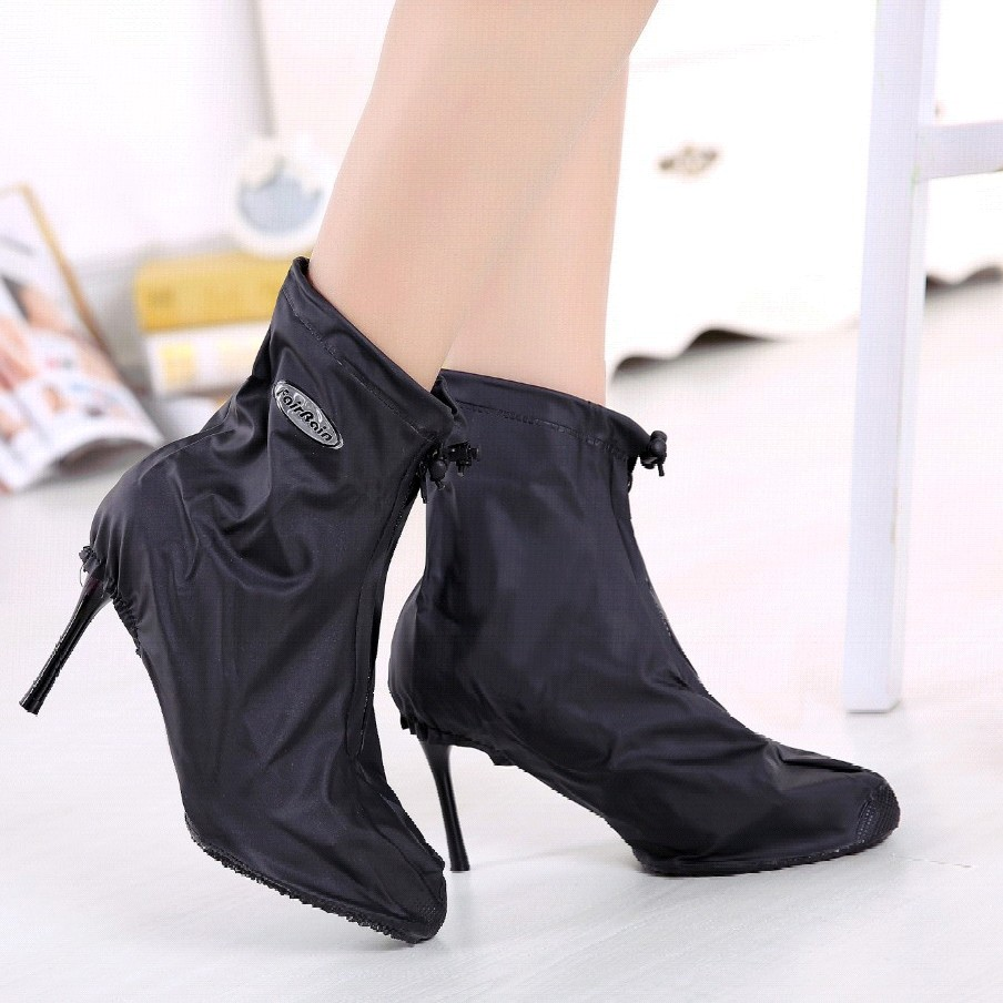 Reusable Rain Shoe Covers Protecting High Heels Waterproof For High Heels Anti-dirty Shoes Anti-mud Overshoes Shoes Set