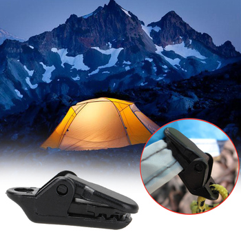 10 PCS/Sets Tents Awning Wind Rope Clamp Awnings Plastic Clip Tent Pull Point Outdoor Camping Tent Alligator Cip Hook
