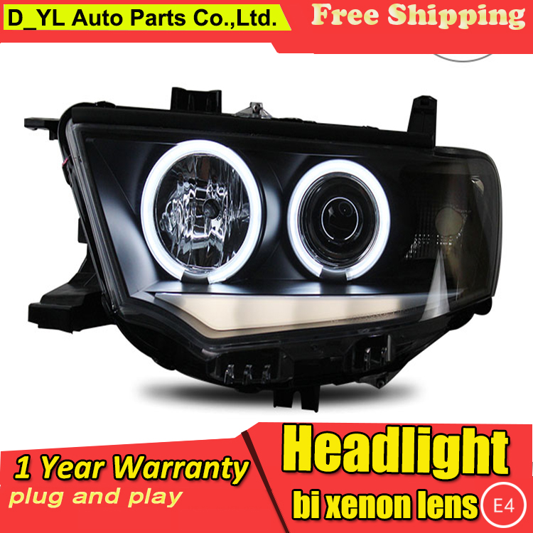 Car Styling for Pajero Sport Headlights 2011 2013 Pajero Sport LED Headlight DRL Lens Double Beam