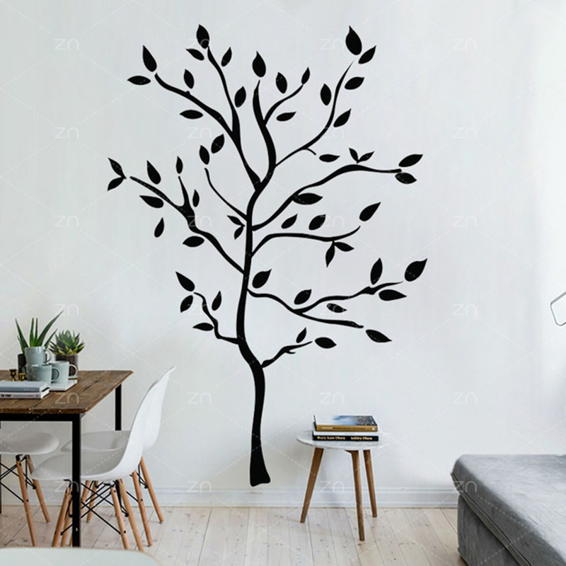ZN Vine Flower Free Wall Sticker Living Room Backdrop Decoration Removable Waterproof Wall Art Decals Simple Home Decor LH575