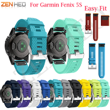 20MM Watchband Strap for Garmin Fenix 5S/5S Plus Watch Strap Quick Release Silicone Band Strap for Garmin Fenix 5S Band Bracelet крепление для перевозки 2 х велосипедов kia e823055001 для kia ceed 2018 2019