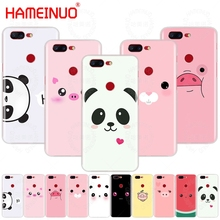 HAMEINUO Cute Panda Pig Smile Emoji cover phone case for Oneplus one plus  5T 5 3 3t 2 X A3000 A5000