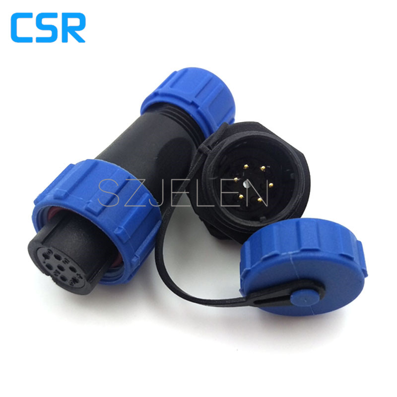 SP1310, Waterproof Connector 6 pin, IP68, Power box power connector, 6 pin power cable plug and socket device sp1310 waterproof