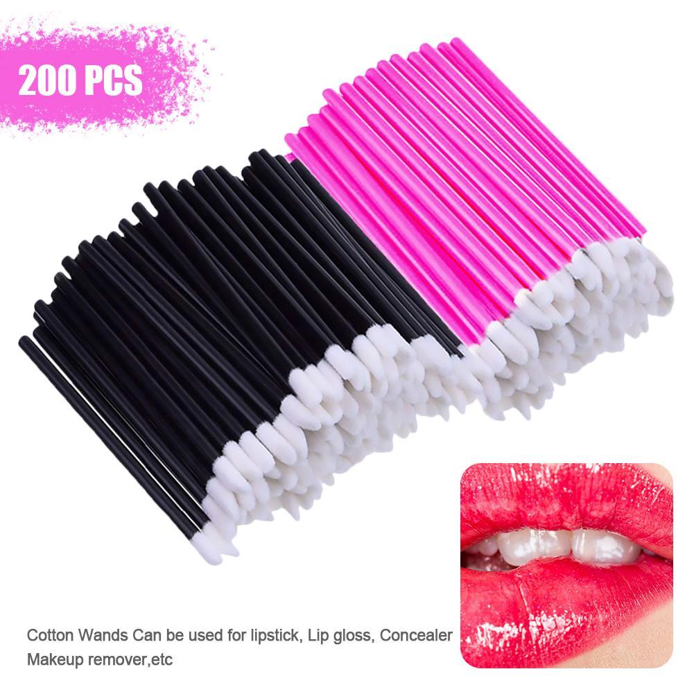 200 pçs descartável labial escovas batom gloss
