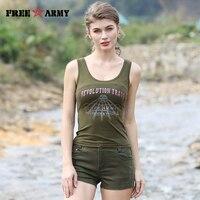 Summer Vest Army Green Sleeveless Women Round Neck Vests 2017 Hot New Ladies Coat Shirt Dry