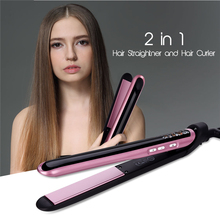 Professional Hair Straightener Curler 2 in