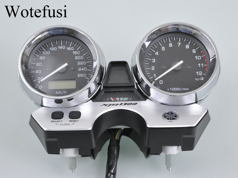 Wotefusi HOT Motorcycle Speedometer Tachometer Meter Gauge For Yamaha XJR1300 1998 1999 2000 2001 2002 2003 [P618] for yamaha xjr1300 98 02 speedometer tachometer speedo gauge cover motorcycle xjr 1300 1998 1999 2000 2001 2002 motorcycle