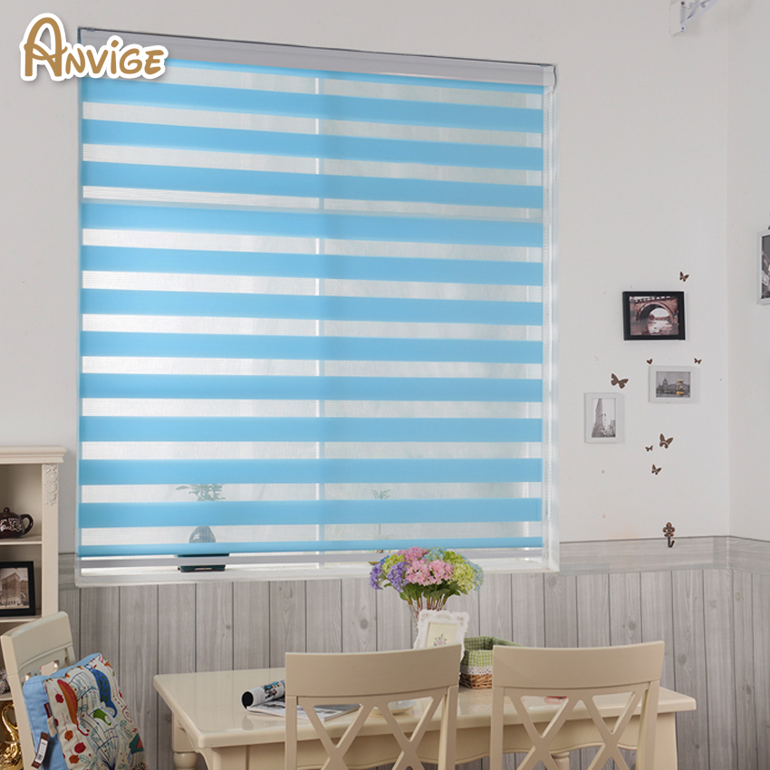 Zebra Blinds Roller Shutter Double Layer Shade Customized Curtains For Living Room Free Shipping China