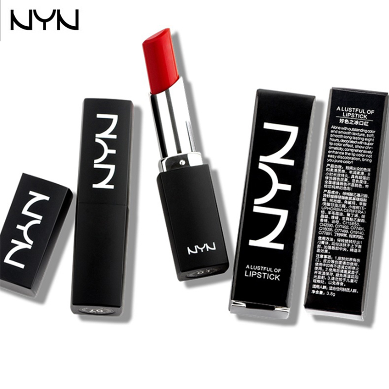 10 Color NYN Velvet Lipstick Waterproof Batom Matte Lip Stick Nude Long Lasting Baby Lips Natural Lip Balm Cosmetic High Quality