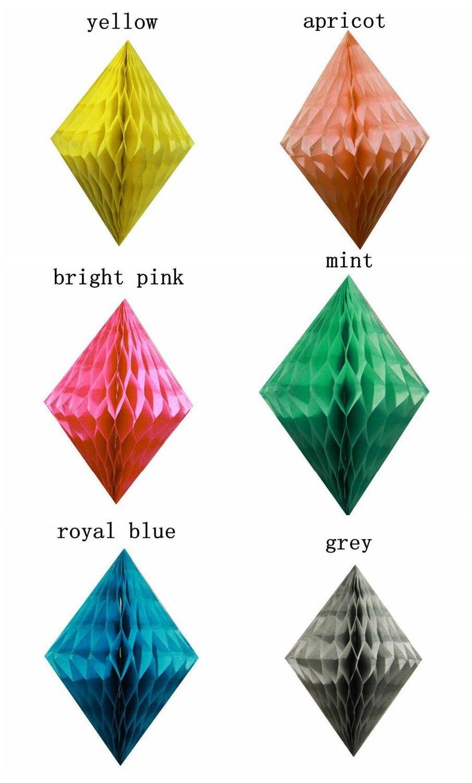 Aliexpress.com : Buy Latest 8pcs 10cm Diamond Honeycombs Wedding ...