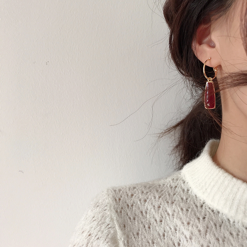 Geometry retro circle pendant earrings jewelry fashion woman earrings Statement earring for Girls gift for woman 5