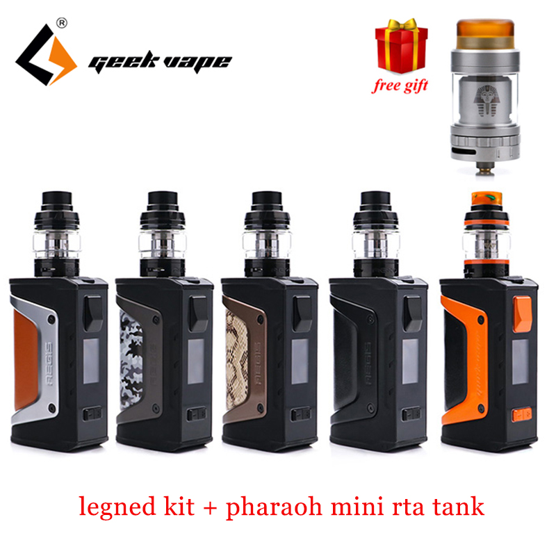 Free gift!! Geekvape Aegis Legend Kit with aegis legend 2 18650 batteries Geekvape aegis 200w legend box mod Aero mesh coil Tank