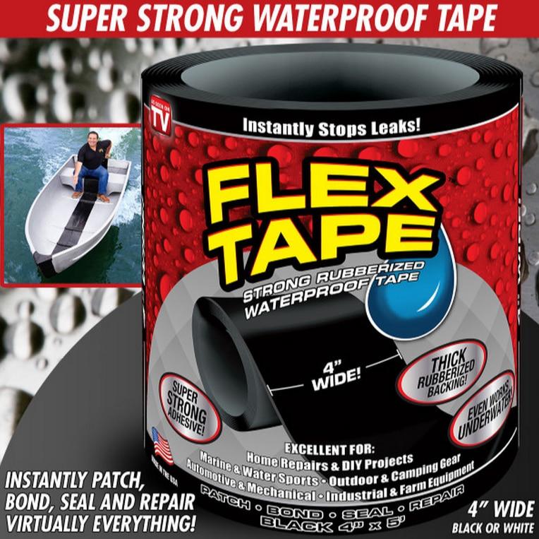 New Arrival 10cm 20cm 30cm Wide 3 Colors Flex Tape Strong Rubberized Waterproof Tape Hose Repair Connectors